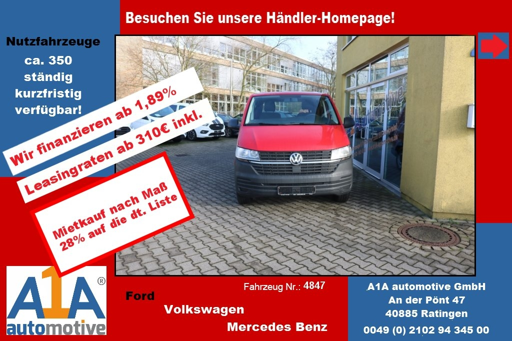 VW T6 Transporter 2.0 TDI T6.1, 4MOTION 3000 mm *Kli*Rd*GuBo*PDC*
