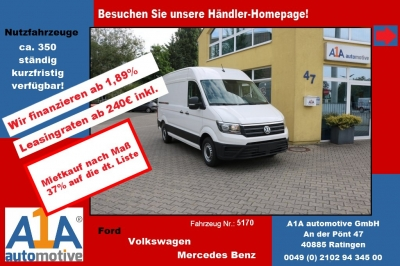 VW CRAFTER 30 Kasten 2,0 TDI3640mm !elAu*BT*Rrad*DoSi!