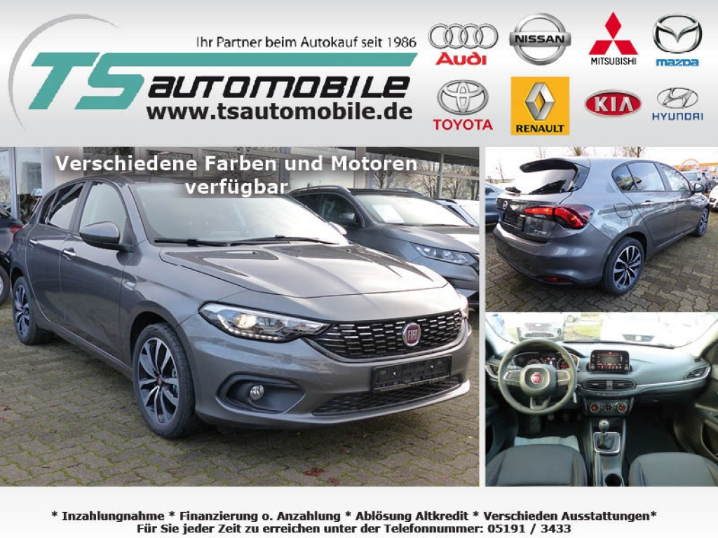 Fiat Tipo 5T 1.4 95PS Easy Navi7+Link+Alu17+Shzg+Pvcy