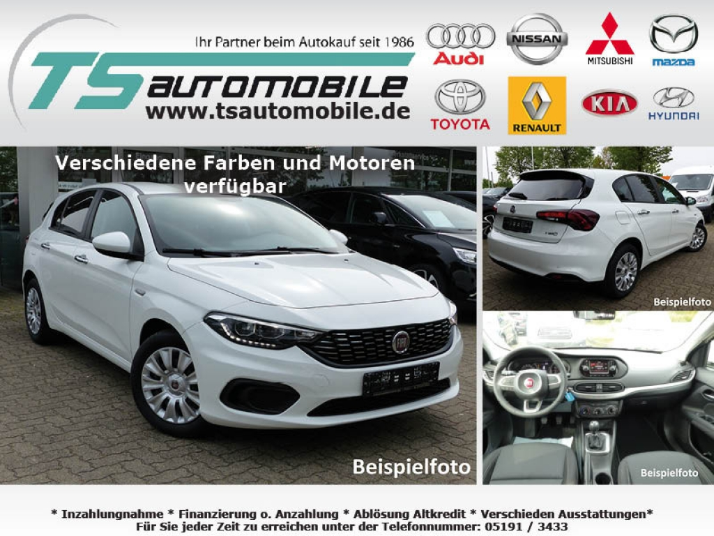 Fiat Tipo 5T 1.4 T 120PS Easy Navi7+Link+Alu17+Shzg