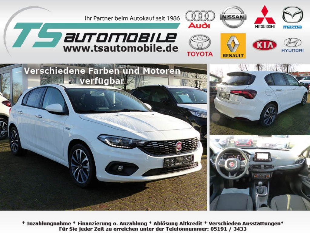 Fiat Tipo 5T 1.4 T 120PS Lounge Navi7+Link+Alu17+Shzg